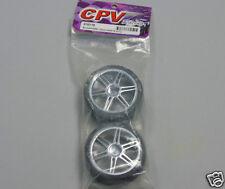 CPV Racing 813217S 1:10 RC Car Wheels (1 Pair) Dual Spoke Chrome Wheels New