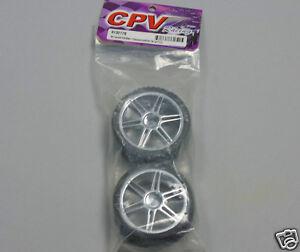 CPV-Carreras-813217s-1-10-Coche-Rc-ruedas-1-par-DOBLE-Rayos-CROMO-ruedas-NUEVO