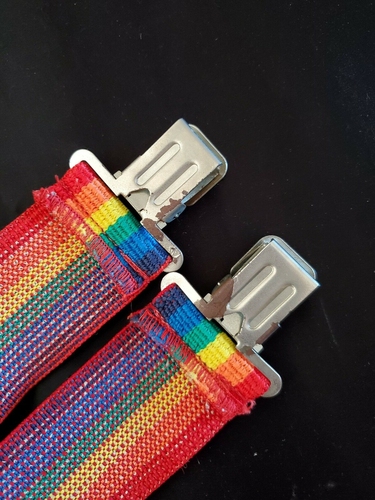 Vintage-Men's Made in USA-SIERRA-Rainbow-Suspende… - image 4