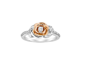 Details about  /Enchanted Diamond Belle's Rose Fashion Women/'s Ring in 14K Two Tone Gold Finish