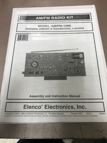 ELENCO AMFM-108K AM//FM Radio Kit