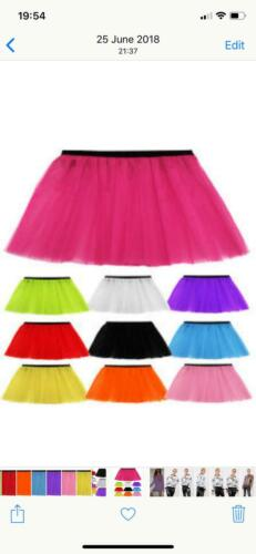 3 Layer Women Lady Adults Girls Tutu Skirt Dress Up Costume Hen Party