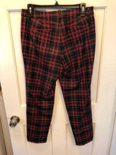 Plaid 2 Euc taglia lana Cafe pantaloni J Crew da di Pantaloni Capri RqYUzPvw