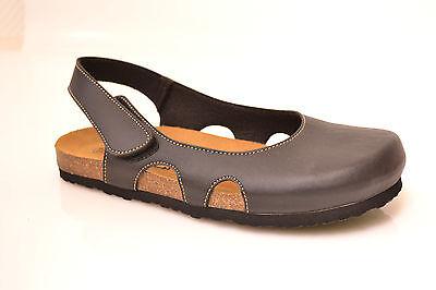 Damen Bio Tieffußbett Pantoletten Sandalen Kork Fussbett Gr.37 Schuhe Sale