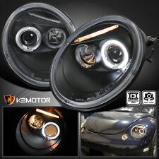 For 1998 2005 Vw Volkswagen Beetle Black Halo Projector Headlights Left Right