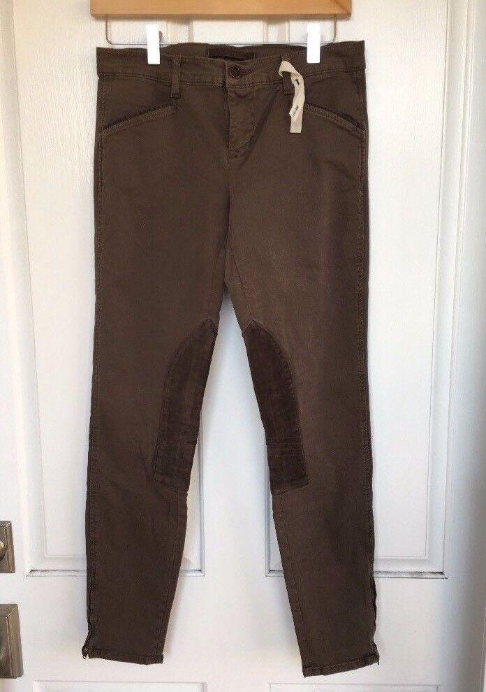 NWOT Nordstrom J BRAND Vin Stalln 9788VK120 Japanese Luxe braun Twill pants, 28