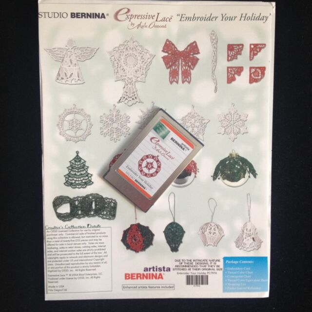 Bernina Embroidery Cards For Artista Models 165 170 180 200