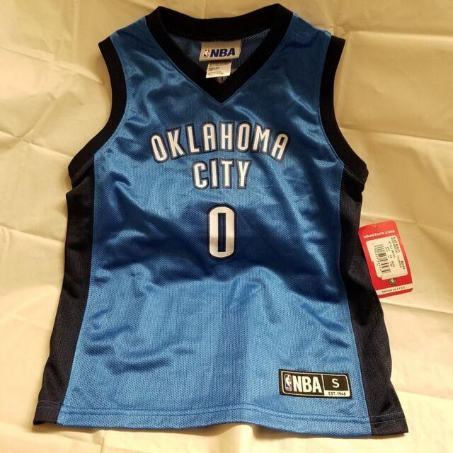 7f718702dba4 NWT NBA Oklahoma City Thunder  0 Russell Westbrook Boys Basketball jersey