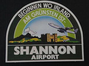 Reise-Aufkleber Shannon Airport Ireland 80er