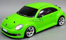 Custom RC 1/10 Drift  VW BEETLE  AWD Belt CAR RTR Green w/ LED LIGHTS