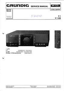 Fein Service Manual-anleitung Für Grundig V 1 Tv, Video & Audio