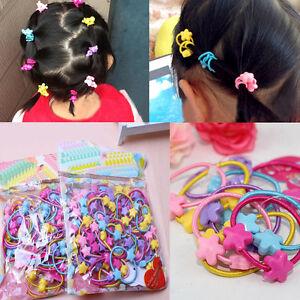 50pcs Rubber Band Elastic Hair Bands Baby Hair Ties Girls