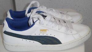 taille 40 5b631 be679 Détails sur Junior PUMA BASKET CLASSIC Baskets UK 4 EUR 37 cuir Blanc  Escarpins Espadrilles- afficher le titre d'origine