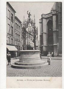 Anvers-Puits-de-Quinten-Matsys-Belgium-Vintage-U-B-Postcard-891a