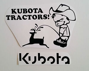 KUBOTA-decal-TRACTOR-fender-seat-pull-pulling-trailer-plow-STICKER-mower-BLACK