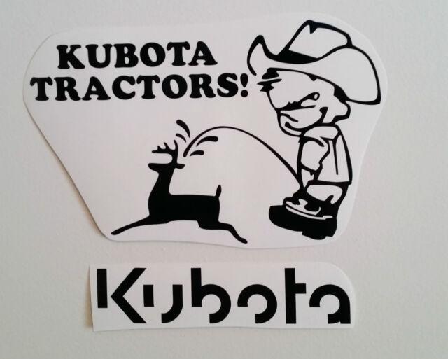 KUBOTA decal TRACTOR fender seat pull pulling trailer plow STICKER mower BLACK