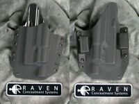 Left Handed Raven Glock 19 23 32 Surefire X300 Light Kydex Holster 9 40