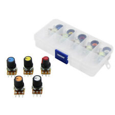 New Listingpotentiometer Kit Wh148 10 X 15mm Linear Taper Rotary Resistor Set Knobs Amp C Y1