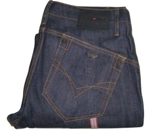 blu L32 jeans Emporio scuro W32 denim Stripe Leg Mens Armani jeans qRwtZR4