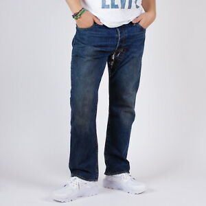 Levi-s-501-Original-fit-RESTYLED-Herren-blau-jeans-36-30-W36-L30