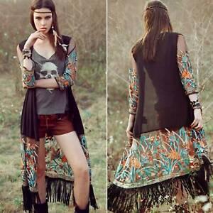 Women-039-s-Boho-Cover-Up-Long-Cardigan-Summer-Beach-Jacket-Fringe-Tops-Plus-Size