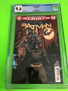 DC-Comics-Batman-1-CGC-9-6-Graded-Free-Shipping-Rebirth-2nd-Printing