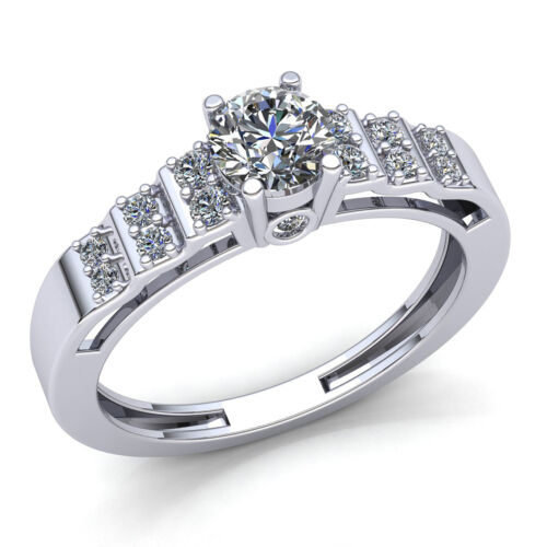 Details about  /0.5ctw Round Cut Diamond Ladies Bridal Solitaire Engagement Ring 10K Gold