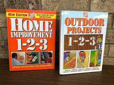 Home Improvement 1 2 3 Outdoor Projects 1 2 3 Home Depot Hardcover Books Ebay