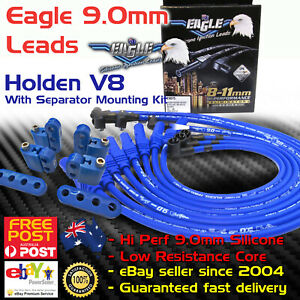 Eagle-9mm-Around-Rocker-Cover-Spark-Plug-Leads-Fits-Holden-V8-253-308-Mounting