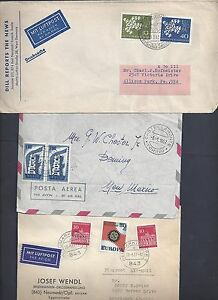 EUROPA-1957-60-039-s-COLLECTION-OF-12-Europa-FRANKED-COMMERCIAL-COVERS-ALL-TO-US