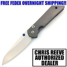 CHRIS REEVE SMALL SEBENZA 21 TITANIUM HANDLE CPM-S35VN STEEL INSINGO BLADE KNIFE
