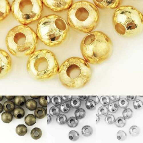 Crimp End Beads Round 4//6mm Jewelry Craft Findings Wholesale 20g 50-120pcs