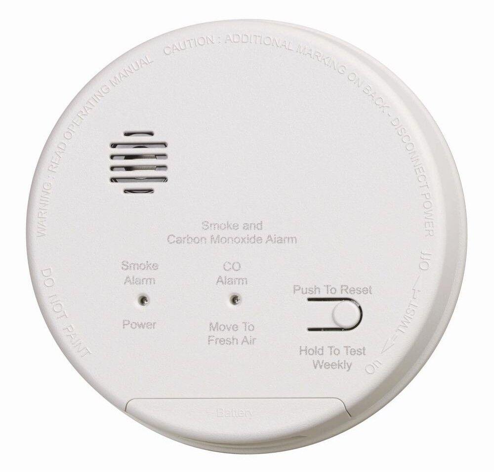 Humo fotoeléctrico cableado interconectados monóxido de carbono Alarma de combinación