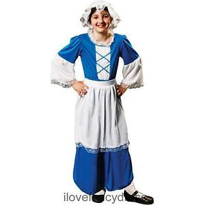 GIRLS-TUDOR-COSTUME-SCULLERY-MAID-SERVANT-HISTORIC-SCHOOL-CURRICULUM-FANCY-DRESS