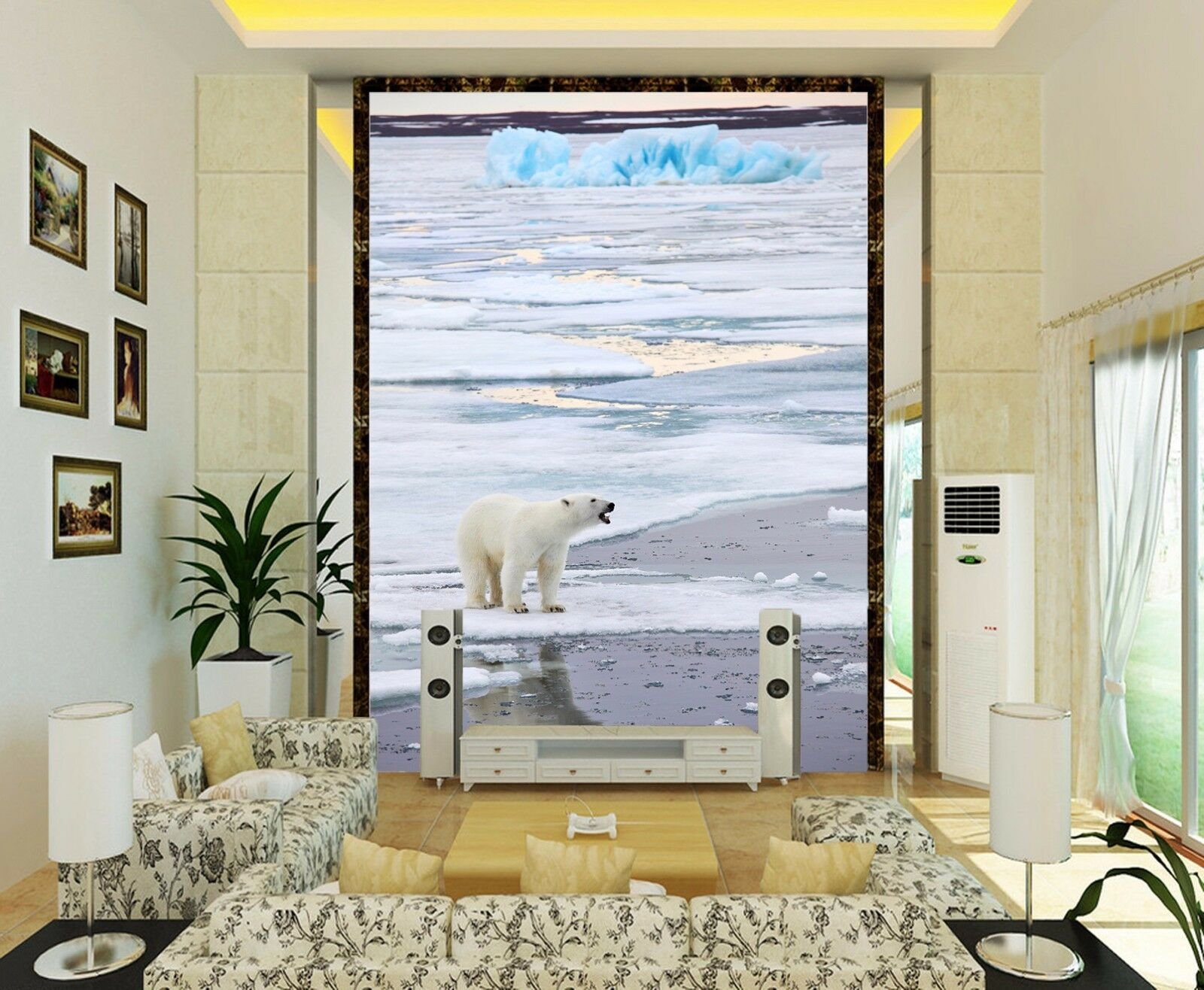 3D Polar Sea And Bear 2246 Paper Wall Print Wall Decal Wall Deco Indoor Murals