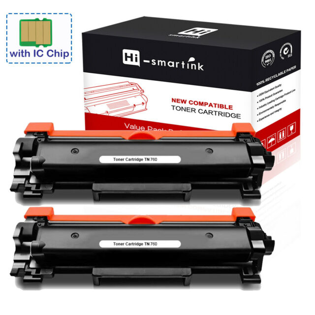 with Chip LD Compatible Brother TN-227BK High Yield Black Toner Cartridge