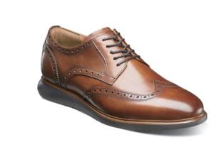 Florsheim-Mens-Walking-Shoes-Fuel-Wingtip-Oxford-Cognac-14238-221