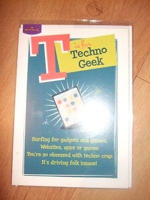 """""""t è Per Techno Geek"""" Hallmark Cartolina Di Compleanno (cellophane Sigillato)-mostra Il Titolo Originale"""