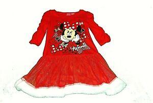 Merry-Christmas-Disney-Minnie-Mouse-Fur-Tutu-Dress-NWT