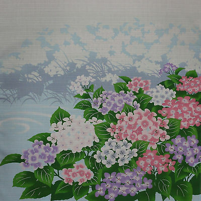 Furoshiki Wrapping Cloth Japanese Fabric 'Hydrangea by the Pond' Cotton 50cm