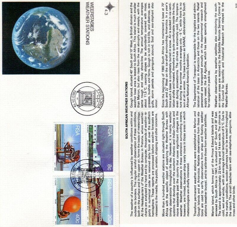 Commemorative Stamp & Envelope Set - Weather Stations 1983