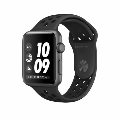 1 of 1 - Apple Watch Nike+ 42mm Space Grey Aluminum Case Anthracite/Black Sport Band