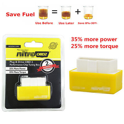 OBD2 Autos Off-Road Performance Tuning Chip Box Fuel Saver For Gas//Petrol Yellow