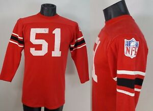 Vintage-Rawlings-NFL-Football-Jersey-Men-039-s-L-Large-Red-70s-Shirt-Fit-S-XS