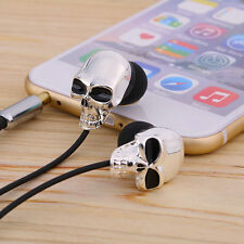 Cool Skull Heads 3.5mm Port Earphones Earbuds Headset For MP3 Phone iPads FE