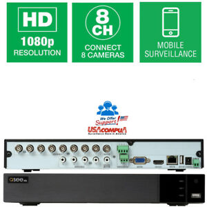 Q-See-8-CH-DVR-No-Hard-Disk-1080p-AHD-TVI-CVI-Analog-hybrid-8CH-QTH84