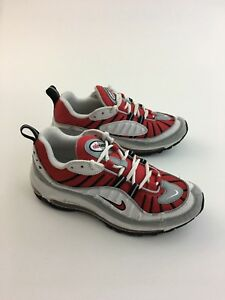 Nike Air Max 98 University Red White Silver Black Mens Size 6.5 Rare ... 1c7a7d69c