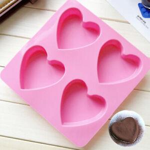Silicone Heart-shaped Mold Fondant Cake Chocolate Baking Soap Ice Tool DIY Décor