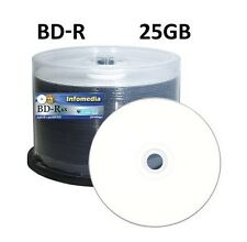 50 x INFOMEDIA Blu-ray Disc HTL with Dark Inorganic Dye - 25GB 6x BD-R Printable
