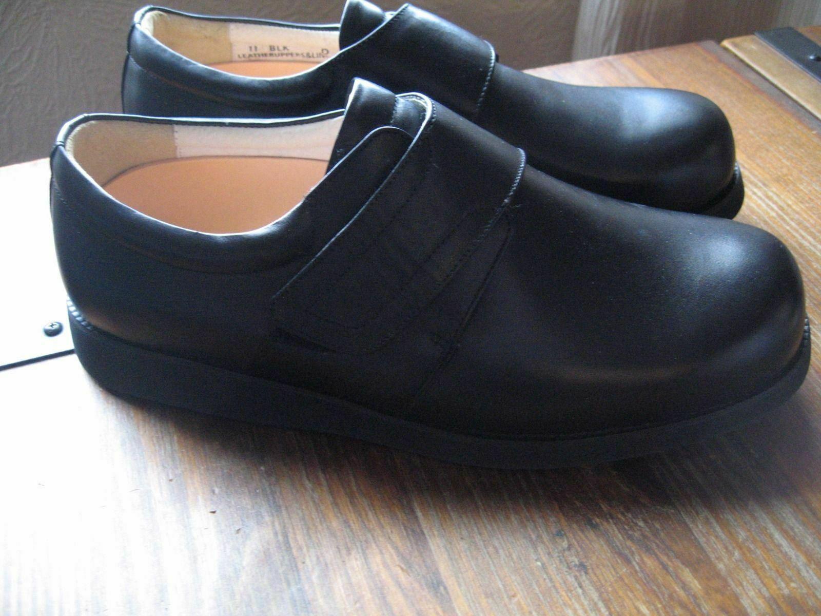 Nuevo-Mt. Emey Slap Sobre Correa Para Hombre Zapato terapéutico profundidad extra tamaño 11 D (A036)